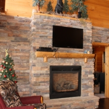 Gas Stone Fireplace